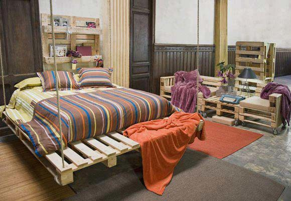 Make trendy custom furniture with recycled wooden pallets - Sofa cama minimalista ...