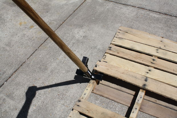 how to break down wood