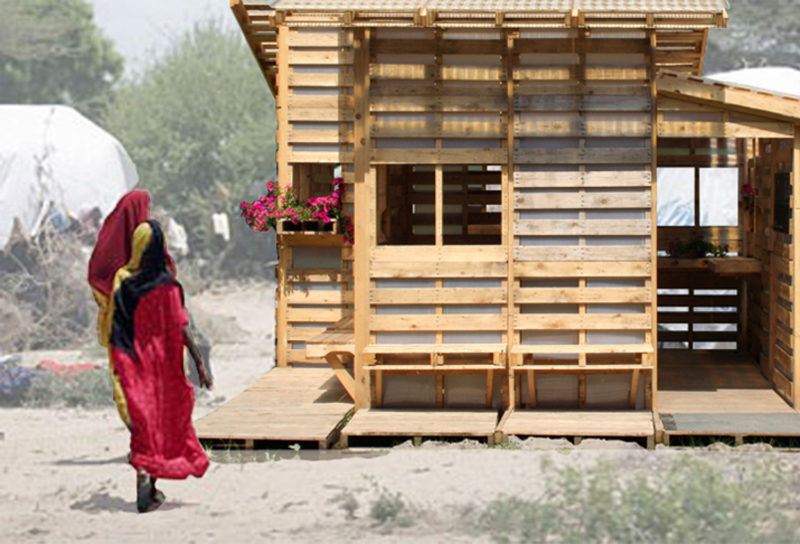 Solving Refugee Housing Problems by Upcycling Wooden Pallets